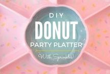 Party Theme   Doughnuts + Donuts / Decorations, activities, favors and food inspiration for doughnut parties!