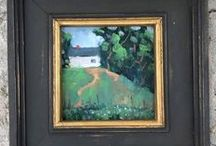 Honey's Treasures - Original Oil Paintings. / I'm a plein air landscape painter.  I also do some studio work when it's raining.   I do woodworking with my husband, too.