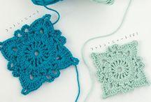 crochet squares - blocks / free patterns for squares - blocks - rectangles