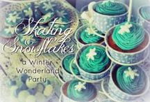 Winter Wonderland - Ice Skating Party / Ice skating birthday party ideas useful also for Winter and Frozen parties