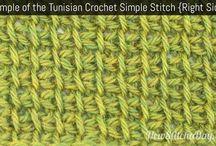 crochet tunisian stitches tutorials patterns