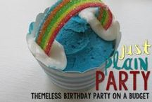 Classic Kids Party (on a Budget) / A brilliantly simple fun and colorful party for ten guests for under $100 (including EVERYTHING)