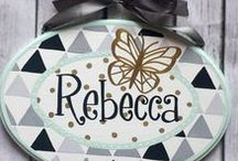 Custom hand painted plaques