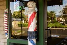 Mike's Barber Poles / Handmade wooden barber poles by Michael and me.