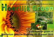 H'eerlijk Groen / H'eerlijk groen dé leukste ecologische, biologische en duurzame tuin en lifestyle beurs van Nederland. 28 en 29 Maart te Boskoop.  Een h'eerlijke, gezellige beurs voor hobbytuinders, liefhebbers van natuurlijke, duurzame, eerlijke producten. De relatie tussen natuur en mens staat centraal.  Op deze h'eerlijke beurs vind je de meest uiteenlopende exposanten met innovatieve producten. Leer nieuwe dingen in workshops en lezingen.  Een beurs om h'eerlijk te beleven met het hele gezin!  / by Guillermo de la Puerta