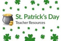 St. Patrick's Day Teaching Ideas / Celebrate St. Patrick's Day with fun classroom activities, art projects, center ideas, printables, and more featuring shamrocks, pots of gold, rainbows, and leprechauns.