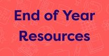 "End of Year Resources / These teacher resources for the end of the school year will help you celebrate a successful year and keep antsy kids engaged in learning. You'll also find send-home resources to help prevent ""summer slide"" and tips for packing up your classroom."