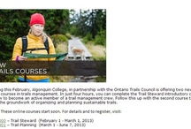 Ontario Trails Education / The Ontario Trails Council has developed a 14 module education curriculum that standardizes excellence in trail skill development, trail management and more!