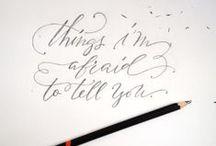 Handlettering // Handschrift