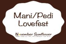 Mani Pedi Love Fest / I'm not into a lot of beauty regimes, but I'm addicted to having pretty nails and toes. I give myself manicures, and pedicures each week. Plus, my daughter is just as addicted to manicures, and pedicures. Here's where we share our latest passions!