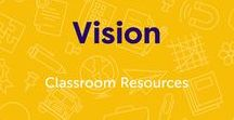 Vision / May is Healthy Vision Month. Find visual skill builders for kids, information about vision problems in children, images illustrating the human eye at work, and lesson plans that explore eye sight and vision. #anatomy #humanbody