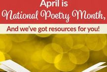 Poetry / April is national poetry month, so use these resources to share this artful writing form with your students.