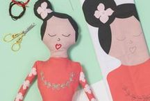 Gidsy and Jo Dolls + Embroidery / DIY sewing projects, hand embroidery, embroidery projects, handmade dolls, embroidery for kids, beginner embroidery, doll embroidery pattern, embroidery patterns