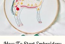 Embroidery Stitches + Tutorials / embroidery stitches, how to do embroidery, hand embroidery tutorials, how to do embroidery tutorials, hand embroidery stitches