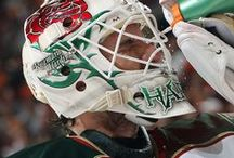 The Masks Of Josh Harding / In honor of Josh Harding re-signing with the Minnesota Wild, we look back at some of his goalie mask designs, which are typically considered the most unique in the NHL. / by Minnesota Wild