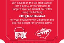 #BigRedBasket / Filling the #BigRedBasket at Target is the best part of running to the store. Check out #mnwild fans posing with the #BigRedBasket.  / by Minnesota Wild