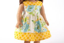 """18 inch doll clothes: Petite Fleur, Gotz, American Girl / collecting patterns clothes & ideas for Tulipe, one of the Petite Fleur range of 18"""" dolls. They will also fit American Girl dolls but have a younger 'look'."""