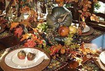 Thanksgiving Tablescape / A luscious table sans the turkey!