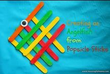 POPCICLE STICK CRAFTS / by Dawn Marelli