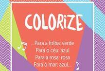 """Colorize, as cores movem a vida! / Aqui você pode colorir à vontade. Afinal fazer à mão é muito mais legal! Ideias, tutoriais, artes, inspirações e todo universo das cores que pintam o seu dia a dia. Vem e """"Colorize"""" com a gente!  ;)"""
