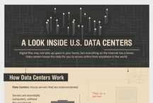 Data Center Infographics / Infographics illustrating concepts in the data center industry and cloud computing.