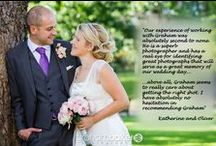 Testimonials / Client Testimonials and reviews for Graham Baker Photography London and Kent based Photographer