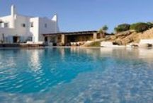 Villa Rocky #Mykonos #Greece #Island / Rocky Villa offers family friendly yet stylish accommodation, a private lovely heated infinity pool 12x8 m, and stunning views towards colourful sunsets. https://www.mygreek-villa.com/rent-villa-search/villa-rocky