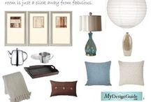 Neutral Living Room w Blue Accents