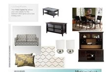 Single Mom Space / This single mom wants to update her cozy living room dining room open space