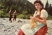 Vintage Knitters - Deramores / knitters throughout the years, vintage knitting, Deramores, knitting patterns, crochet patterns, knit, knitting, crochet, knitting tutorial, yarn, yarn store, yarn shop, yarn inspiration, knitting inspiration, crochet inspiration, knitwear, women's knitwear, knitted sweater, knitted jumper.