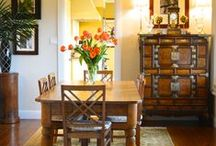 Dining rooms / Dining rooms take on many forms - from spacious rooms to nooks off the kitchen. No matter the size or style, a dining room is a place to gather for everyday meals & special occasions. www.livinginteriors.net