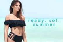 Ready, set, summer / Sand between your toes, warm breezes and legit beach babe bikinis. Well hello, summer! / by Nelly.com