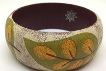 JEWELRY | Boho Bracelets / Unique wooden bangles with decoupage technique  www.etsy.com/shop/GrekoSpirit