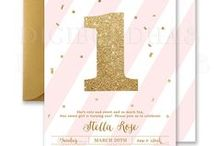 kids birthday party invitations / digibuddha.com  //  romantic | modern | classic | glam / by Digibuddha