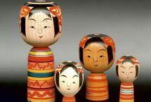 Japan - Kokeshi + Peg Dolls