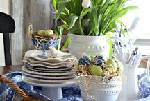 china, lovely plates, teacups, etc.