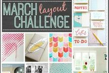 Hip Kit Club - Monthly Challenges / Create a project for each month's challenge for your chance to win amazing prizes.  Share a photo of your finished project on our Facebook timeline.  ( https://www.facebook.com/scrapbookers?ref=hl )