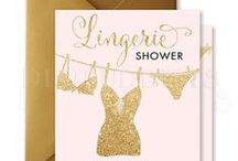 lingerie shower invitations / digibuddha.com  //  romantic | modern | classic | glam / by Digibuddha