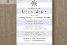 couples shower invitations / digibuddha.com  //  romantic | modern | classic | glam / by Digibuddha