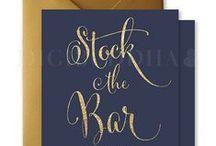 Digibuddha Stock the Bar Invitations / Digibuddha  |  Invitation + Paper Co.  |  digibuddha.com