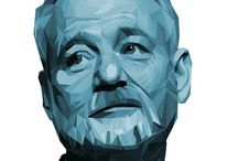 Bill Murray / more than enough pins to warrant his own board.