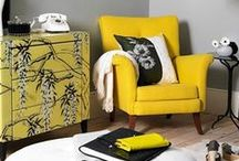 interior | Monochrome Graphic / n'oubliez pas jaune