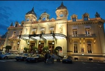 """The Monte-Carlo Casino / Charles Garnier, the architect of the opera house in Paris, built the Casino in 1878. The """"atrium,"""" paved in marble, is surrounded by 28 Ionic columns in onyx."""