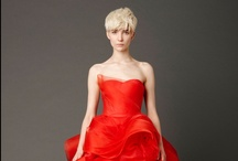 "SPRING 2013 - VERA WANG BRIDE / Vera described her Spring 2013 Bridal Collection as, ""Beautiful dream. The symbolism of Red. Boldly romantic, charming, protective, grand, seductive, sexy. From dahlias to scarlet, crimson and vermillion. A celebration of love."" – Vera.  / by Vera Wang"