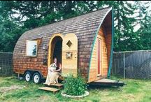"Little Houses--some on wheels / Why are tiny houses so fascinating? I could spend hours looking at pictures of tiny houses. I'm blessed to have my own 100-year-old ""little house"" in my backyard."