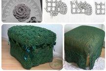 Croche e Trico  -  Cadeira e Puff