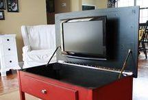 TV  - parede TV - estantes - decoração sala estar - Units  wall mount - stand