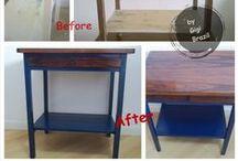 Inspiration  FURNITURE repaint, decopauge... dresser, table, nightstand / refinish, repaint, decopauge / by Gigi Brazil