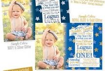 Twinkle Little Star Boys' Party Ideas / PARTY IDEAS: Twinkle Little Star Parties for Boys – Baby Shower, or Birthday ✨ blue & glitter! ✨ Invitations & Paper products from www.sprinkleddesigns.com