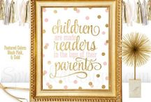 Pink & Gold Nursery / Beautiful finds for a Pink & Gold Nursery! ✨ www.sprinkleddesigns.com